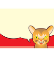 Speech Bubble and Abbyssinian Cat Cartoon vector image