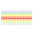 t-shirt shape halftone spectral grid vector image