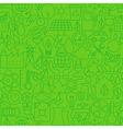 Thin Ecology Environment Line Seamless Green vector image vector image
