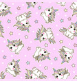unicorn seamless pattern magic background vector image vector image