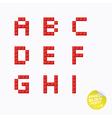 Unique Pixel Block Alphabet vector image