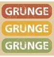 Vintage GRUNGE stamp set vector image vector image