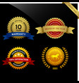 warranty guarantee seal ribbon award a set of vector image