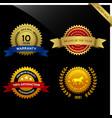 warranty guarantee seal ribbon award a set vector image