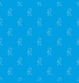 waving player pattern seamless blue vector image