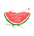 with isolated red slice of watermelon vector image vector image