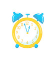 yellow alarm clock cartoon vector image
