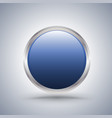 blue circle frame with white copyspace vector image