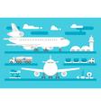 Flat design airport activity set vector image