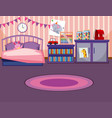 a girl bedroom template vector image