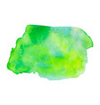 abstract watercolor bright green and yellow vector image