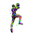 basketball player in a jump throws ball vector image vector image