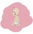 Beautiful smiling cute baby vector image
