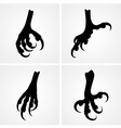 Bird claws vector image vector image