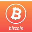 Bitcoin orange logo vector image vector image
