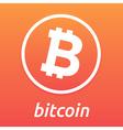 Bitcoin orange logo vector image vector image