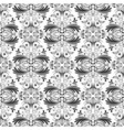 black and white floral vintage seamless pattern vector image