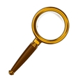 Brass magnifying glass with wooden handle vector image vector image