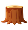 brown wood stem on white background vector image