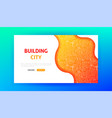 building city landing page vector image