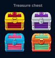 cartoon antique treasure chest in different colors vector image vector image