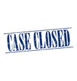 case closed blue grunge vintage stamp isolated on vector image vector image
