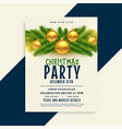christmas party celebration flyer template vector image vector image