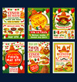 cinco de mayo holiday party invitation banner vector image vector image