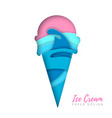 Cold sweet ice cream silhouette cut out paper art