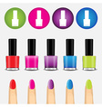 Color nail polish and icon vector image