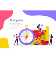 compass and maps concept vector image vector image