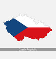 czech republic map flag vector image