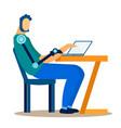 disabled male freelancer flat vector image vector image