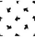 doberman dog pattern seamless black vector image vector image