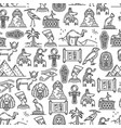 egypt ancient culture symbols seamless pattern vector image