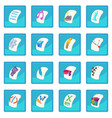 file type icon blue app vector image vector image