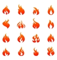 Fire Flat Icon Set vector image