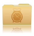 Folder with Alarm Clock vector image vector image