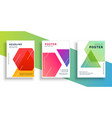geometric colorful flyer design template vector image