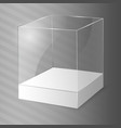 glass cube vector image vector image