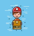 global logistic person cartoon vector image vector image