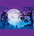 halloween theme image 9 vector image