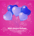 heart shaped ballons poster vector image vector image