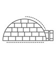 igloo house icon outline style vector image vector image