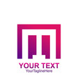 initial letter m logo template colorful square vector image vector image