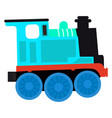 isolated train toy vector image vector image