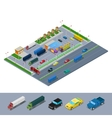 Isometric Road Highway Infrastructure vector image