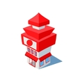 isometric sushi restaurant cafe building vector image