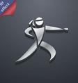 Karate kick icon symbol 3D style Trendy modern vector image