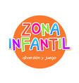 kids zone - zona infantil game banner design vector image vector image